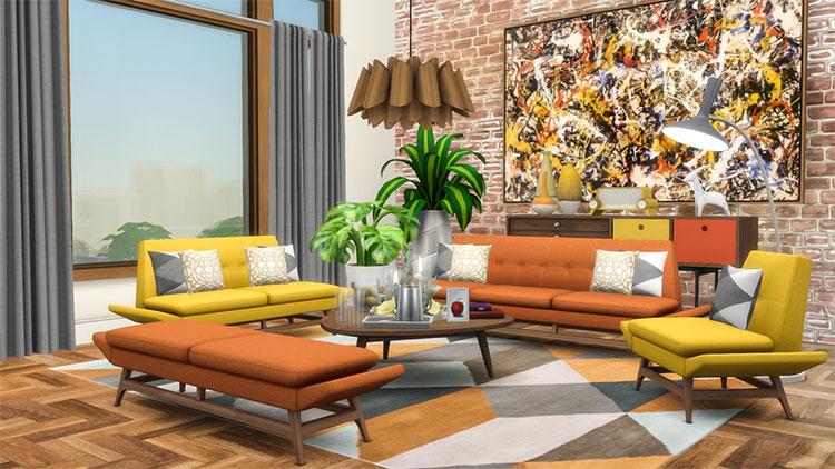 Vice Sofa Series - TS4 Midcentury Modern CC