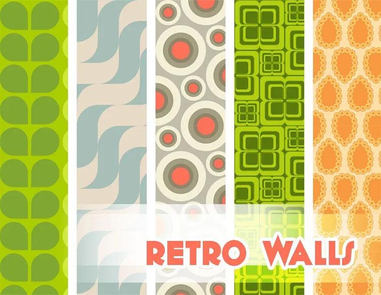 Retro Walls for Midcentury Modern Home - TS4 CC