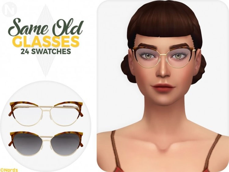 Same Old Glasses - Sims 4 CC
