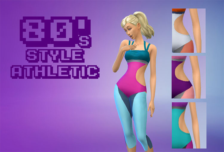 80's Style Athletic Outfit - TS4 CC