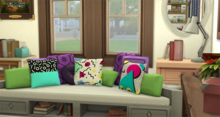 80's Throw Pillow CC - Sims 4