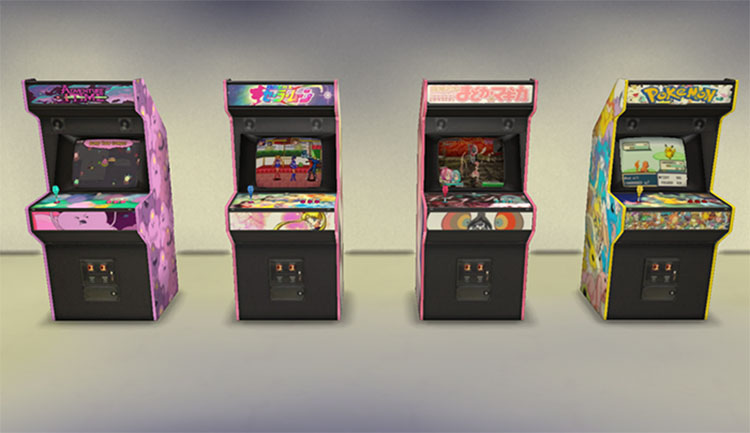 Arcade Machines From The 1980s - TS4 CC