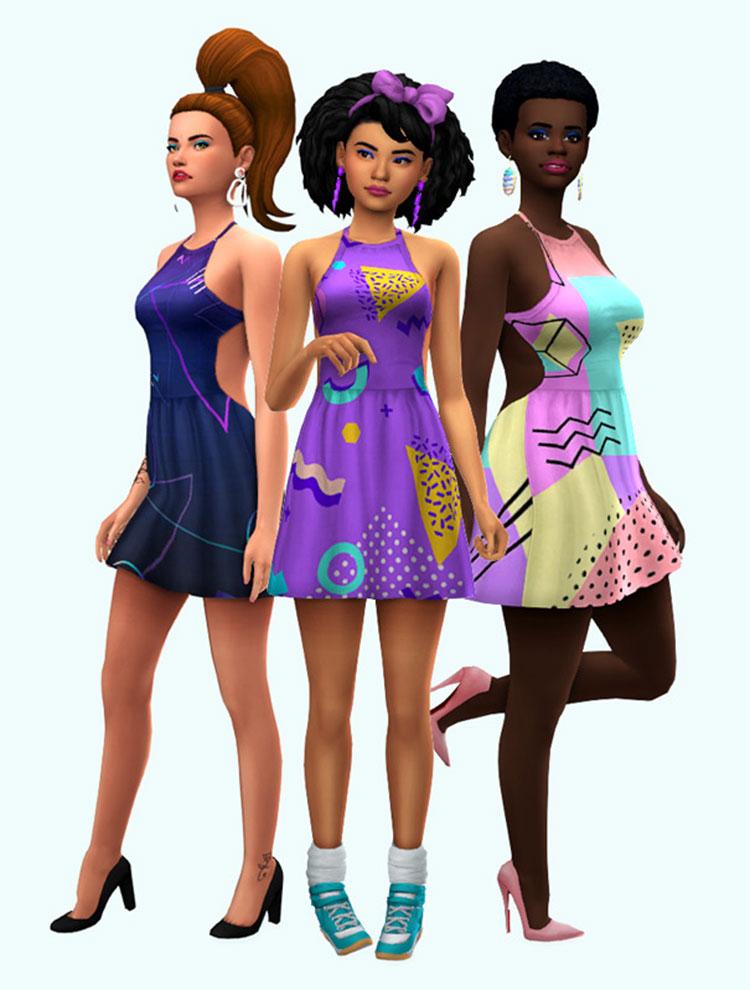 80's Dress CAS CC - Sims 4