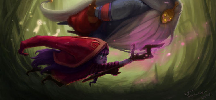 Bard and Lulu dark digital painting