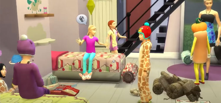 Slumber Party in The Sims 4