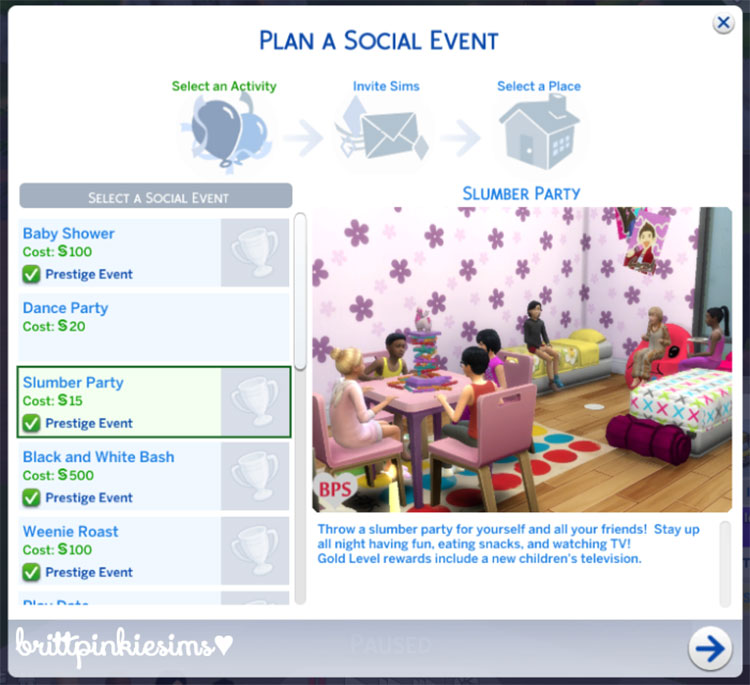 Sims 4 - Slumber Party Event Mod Preview