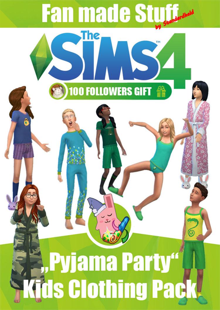 Pajama Party TS4 Clothing CC