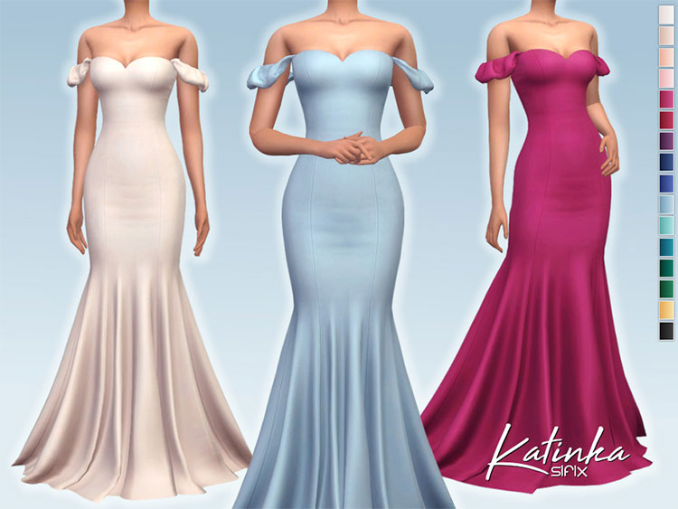 Katinka Dress CC - Sims 4 Preview