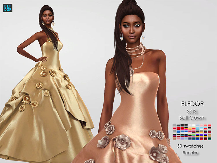 Ball Gown CC - The Sims 4
