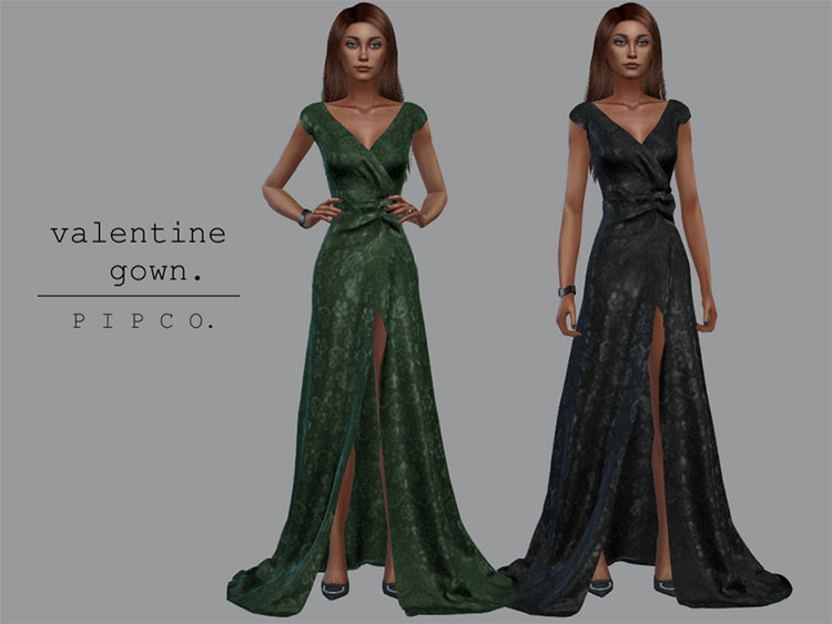 Valentine Gown CC for The Sims 4