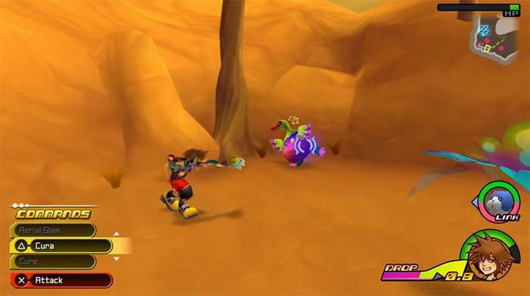 Kingdom Hearts 3D: Dream Drop Distance 3DS gameplay