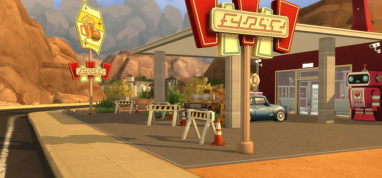 Red Rocket Station Mod for The Sims 4