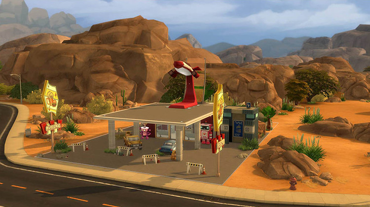Red Rocket Station Sims 4 CC
