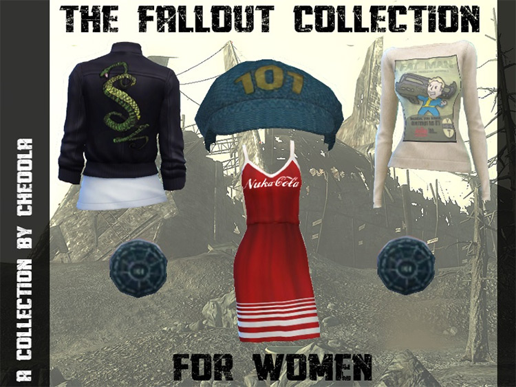 The Fallout Collection TS4 CC