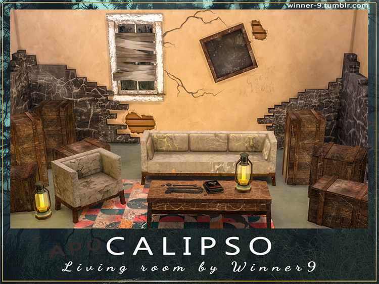 Calipso Living Room for Sims 4