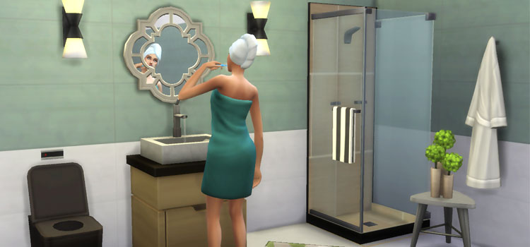 Sims 4 Dream Shower CC - Screenshot