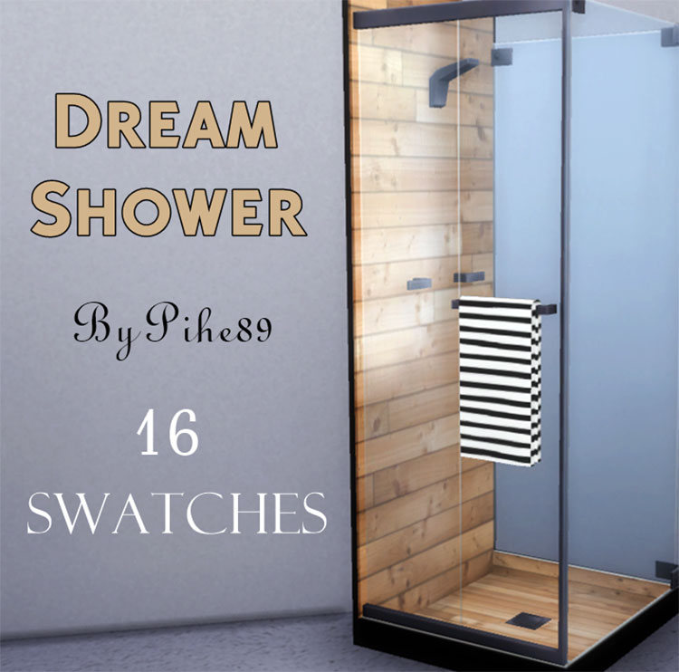 Dream Shower CC for The Sims 4