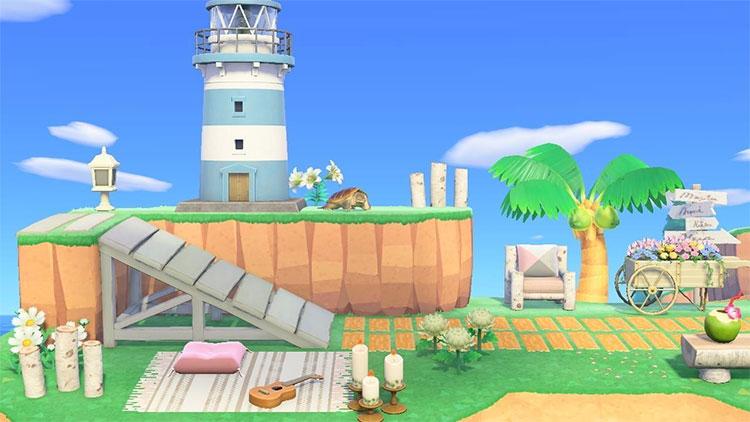 By The Beach Lighthouse Design Idea - ACNH