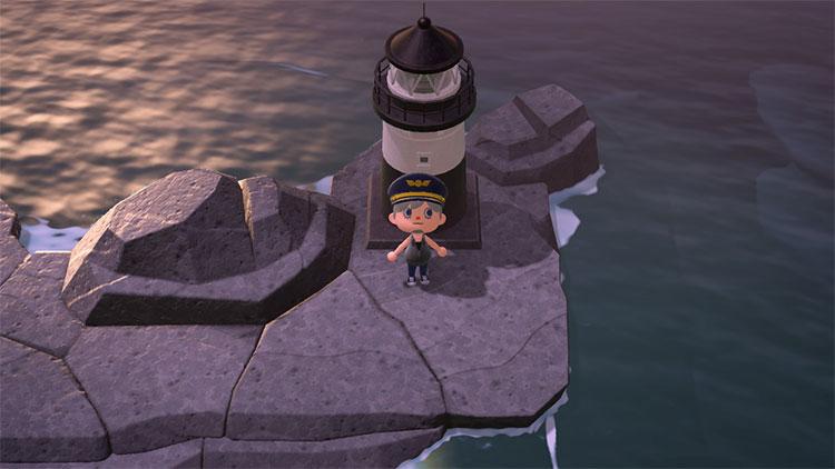 Lighthouse On the Rocks - ACNH Idea