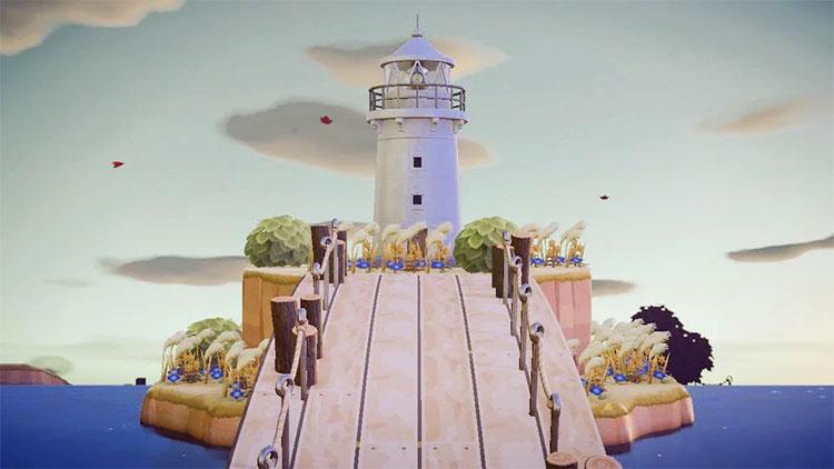 Mini Island with Lighthouse - ACNH Idea