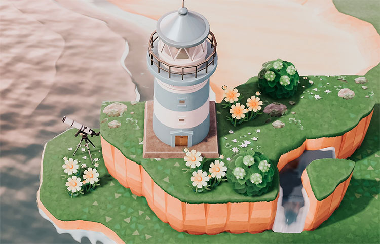 By The Ocean Lighthouse in ACNH