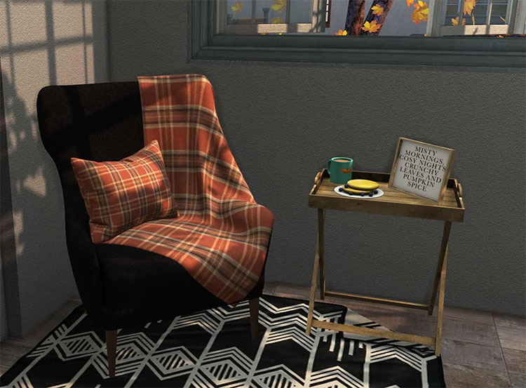 Cozy Autumn Seating CC for The Sims 4