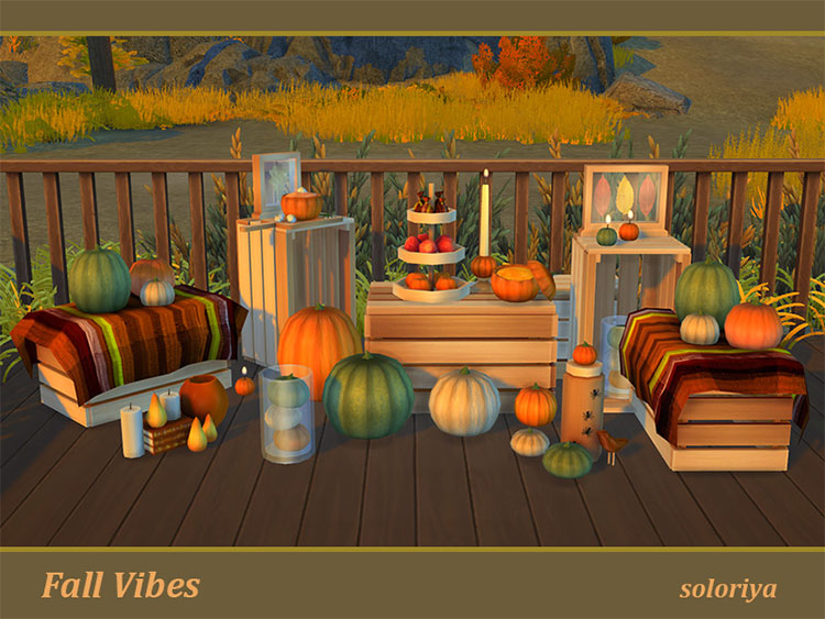 Fall Vibes CC Set for The Sims 4