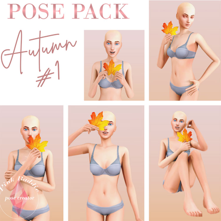 Autumn Pose Pack CC - The Sims 4