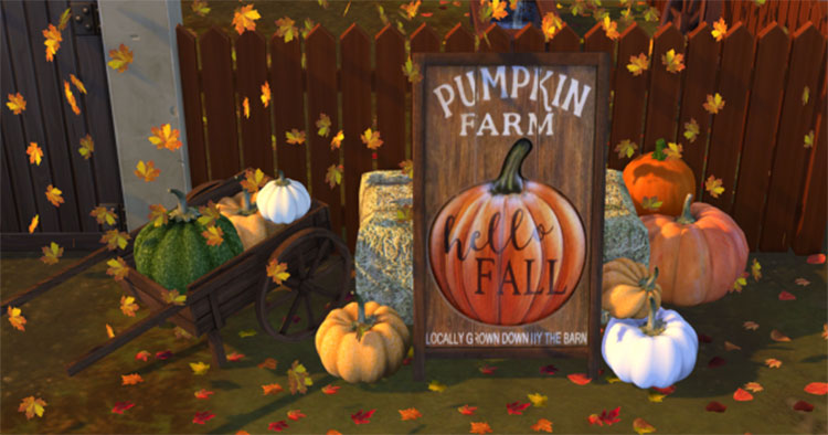 Sign For Your Pumpkin Patch - TS4 CC