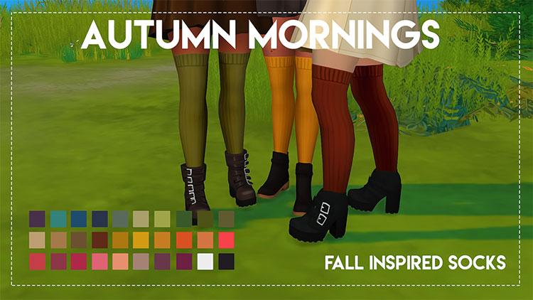 Autumn Mornings Socks CC for The Sims 4