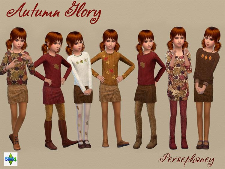 Autumn Glory Set Clothing - Sims 4 CC