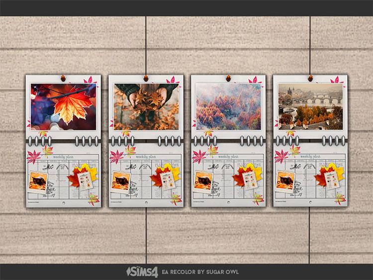 Autumn Calendar CC for The Sims 4