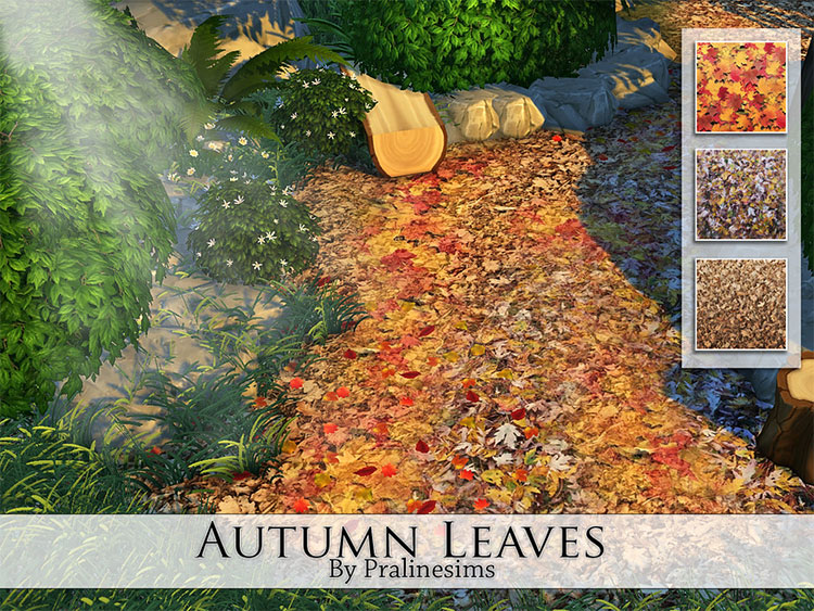 Autumn Leaves Stuff CC for The Sims 4