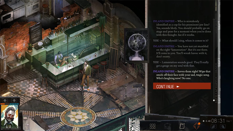 Disco Elysium video game screenshot