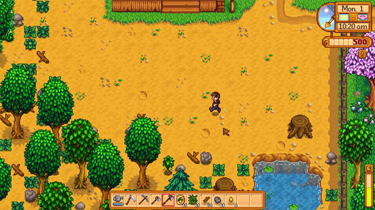Stardew Valley gameplay screenshot