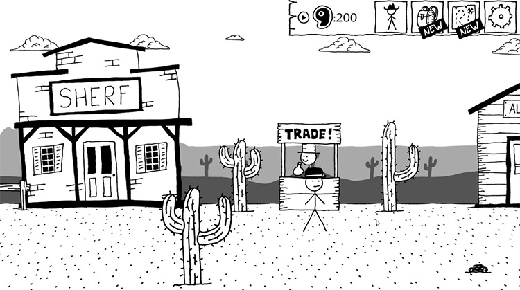 West of Loathing gameplay screenshot