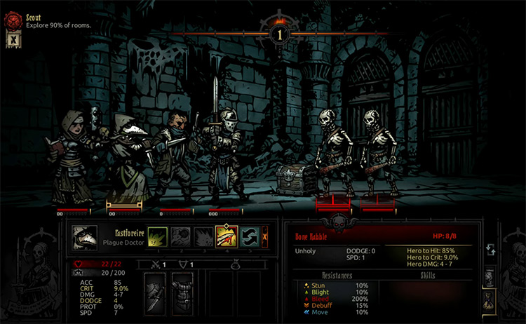Darkest Dungeon gameplay screenshot