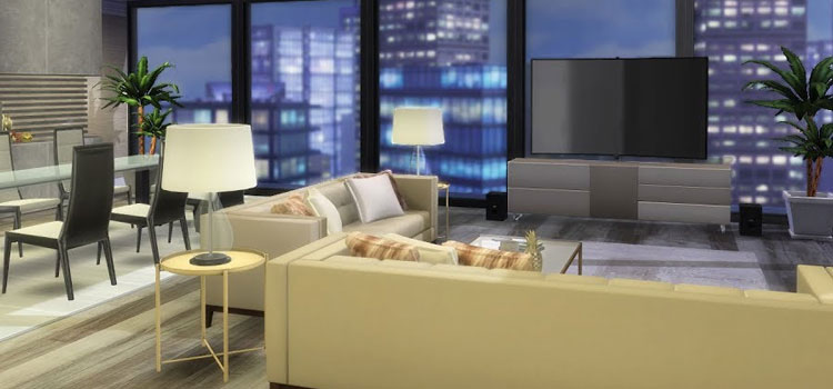 NYC Loft Design in The Sims 4
