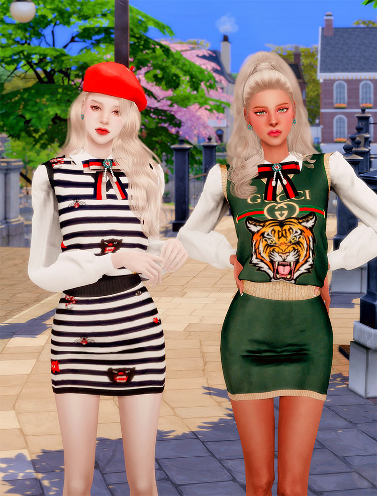 Gucci Collabo Set - Sims 4 CC