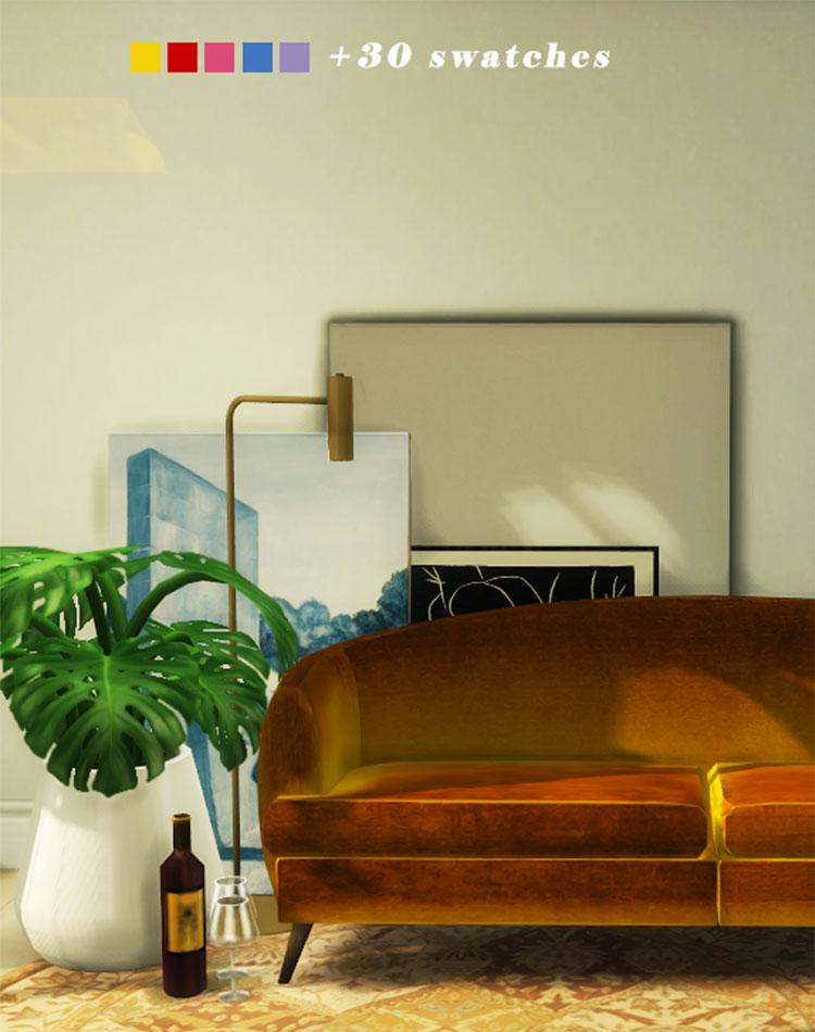 Velvet Sofa CC - Sims 4