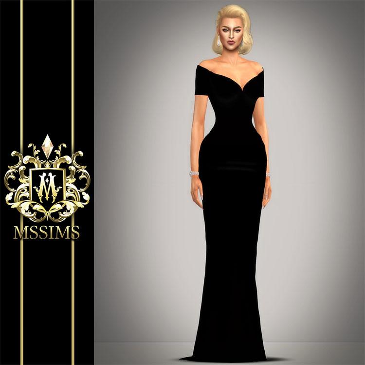 Stafani Dress CC - Sims 4