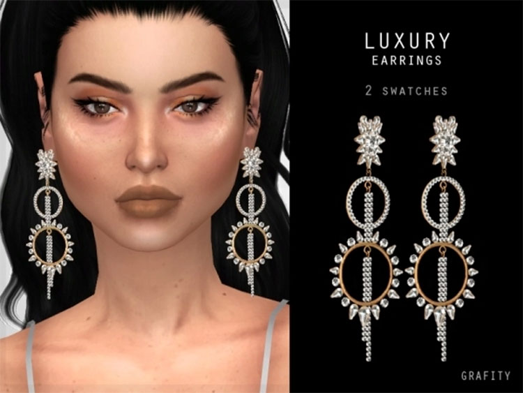 Luxury Earrings CC for The Sims 4