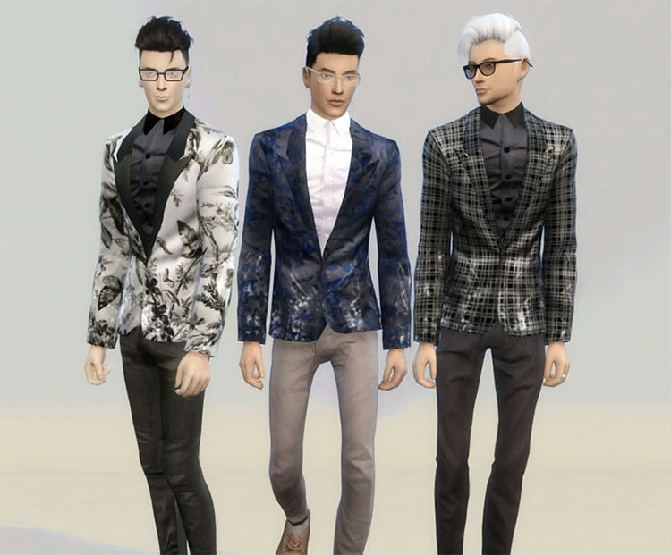Floral Blazer CC for The Sims 4
