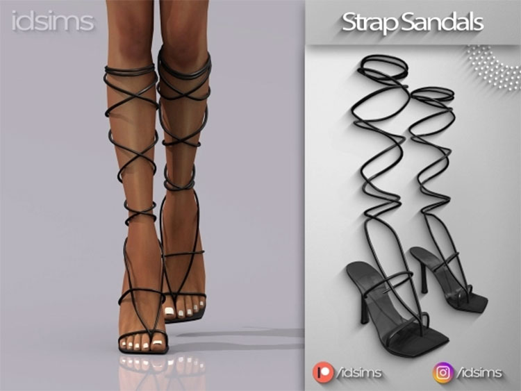Strap Sandals CC for The Sims 4