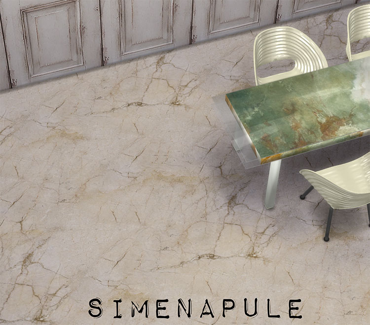 Luxury Flooring for TS4 - Marble