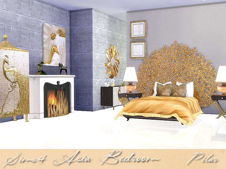 Asia's Bedroom CC for Sims 4