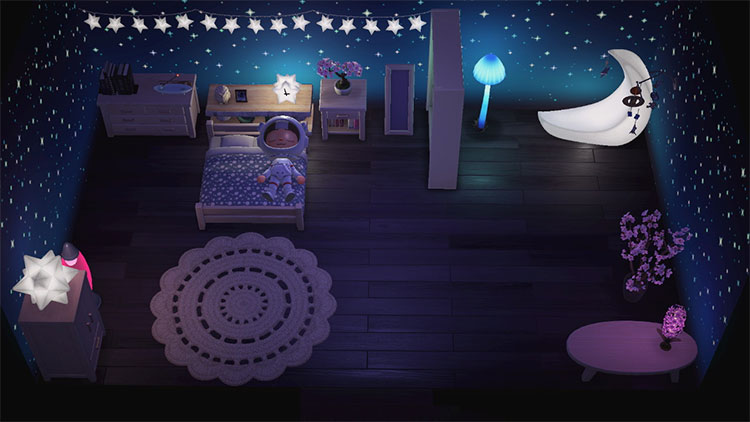 Outer Space Bedroom Design - ACNH