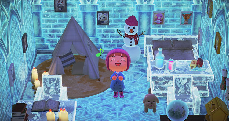 Igloo Ice-themed Bedroom Idea - ACNH