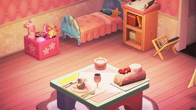 Bright Pink Girl's Bedroom Idea - ACNH