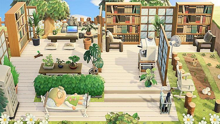 Beach Library Idea for ACNH